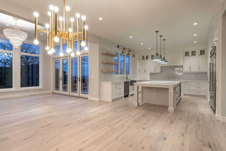 Dining Room and Kitchen Springbank Modern Prairie