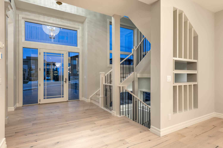 Entry staircase - Springbank Modern Prairie