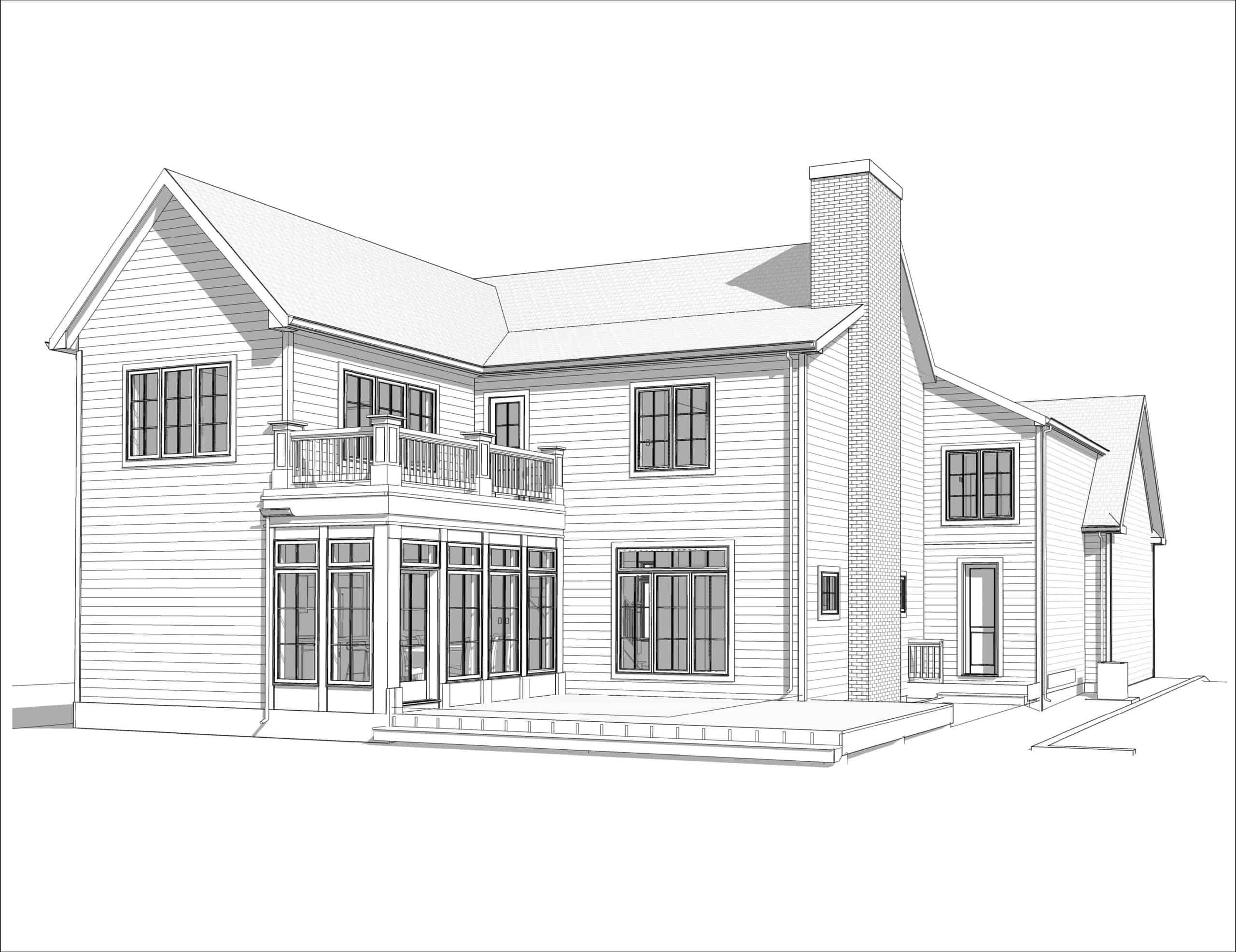 Varsity Modern Colonial rear perspective