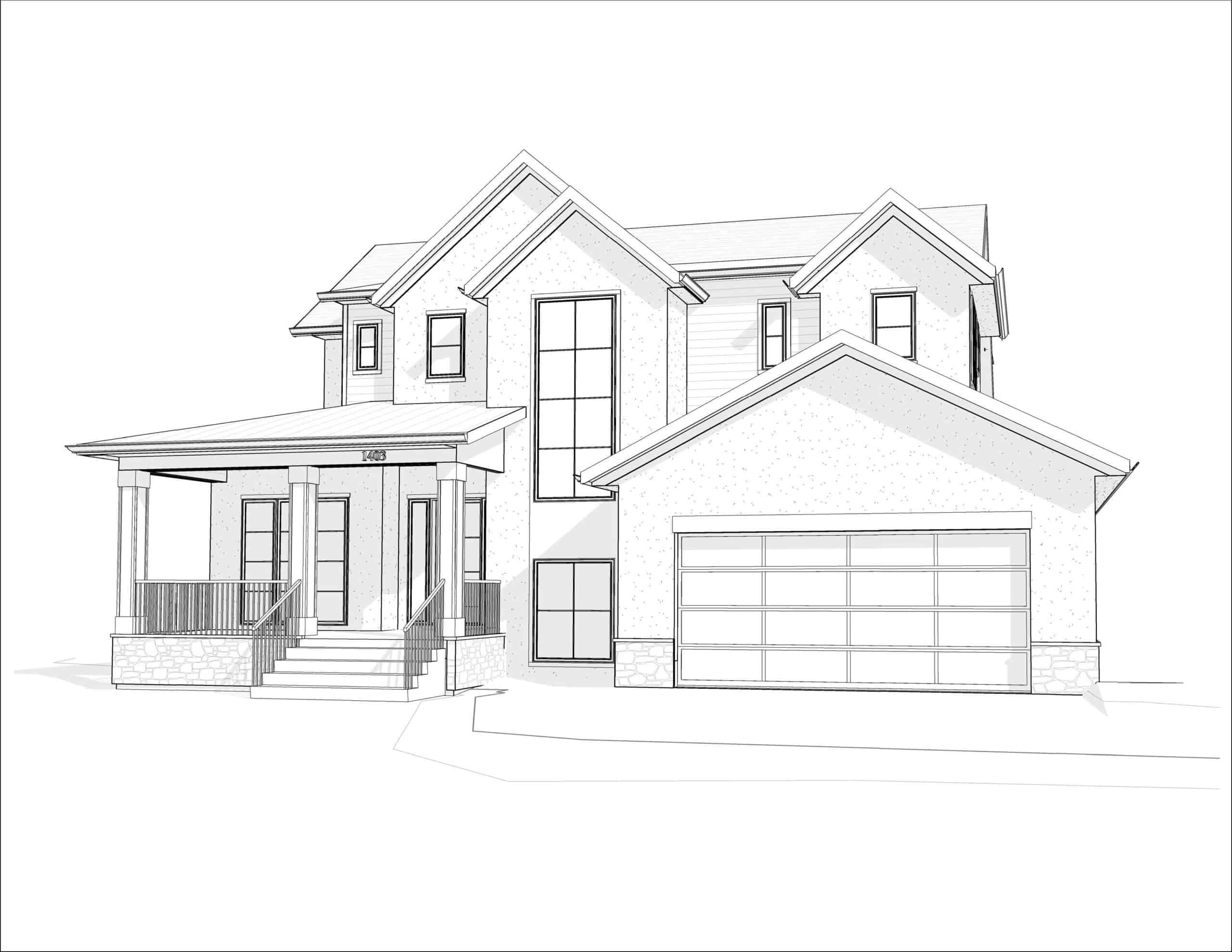 Kelvin Grove Transitional custom residential design