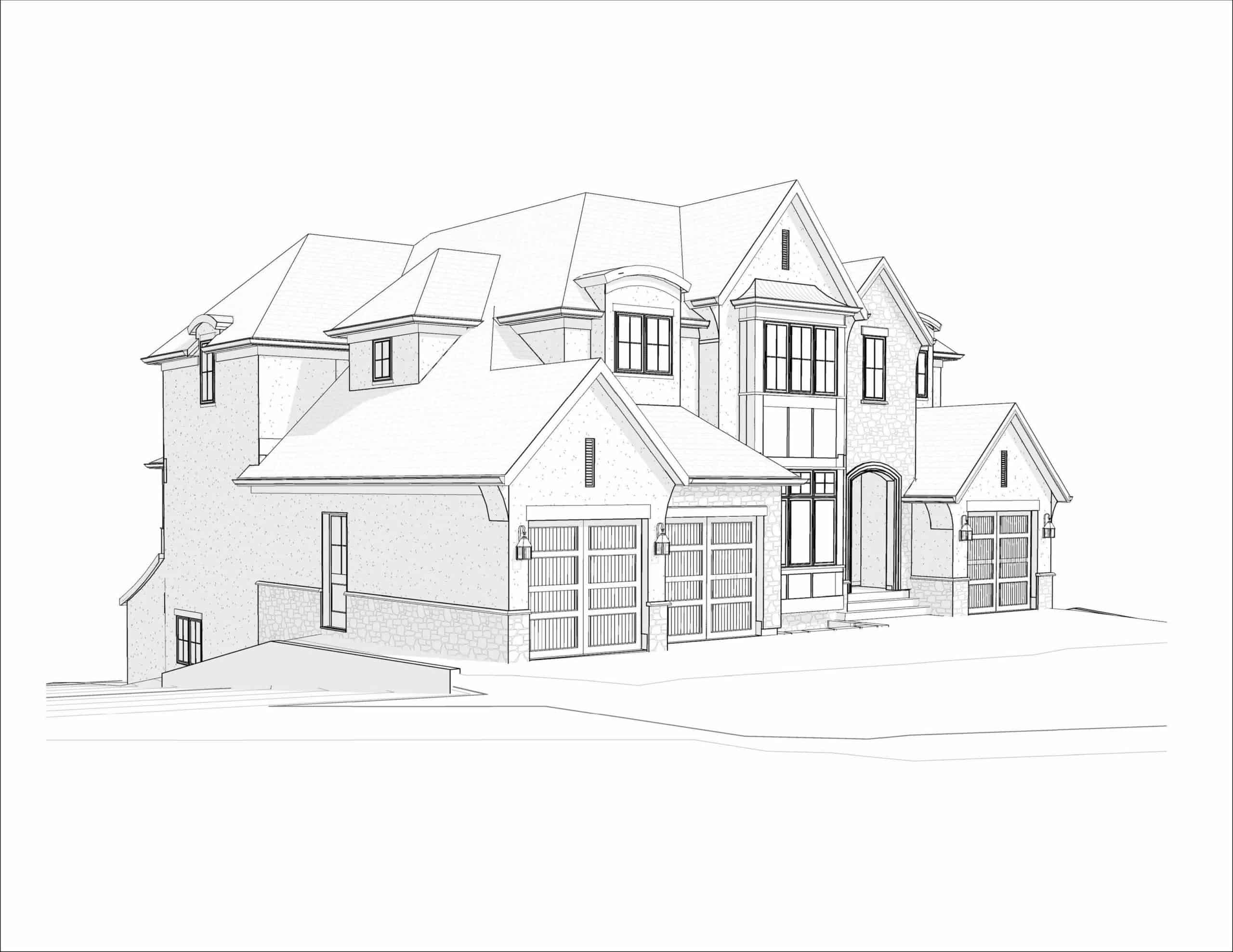 Edelweiss English Manor residential architecture design