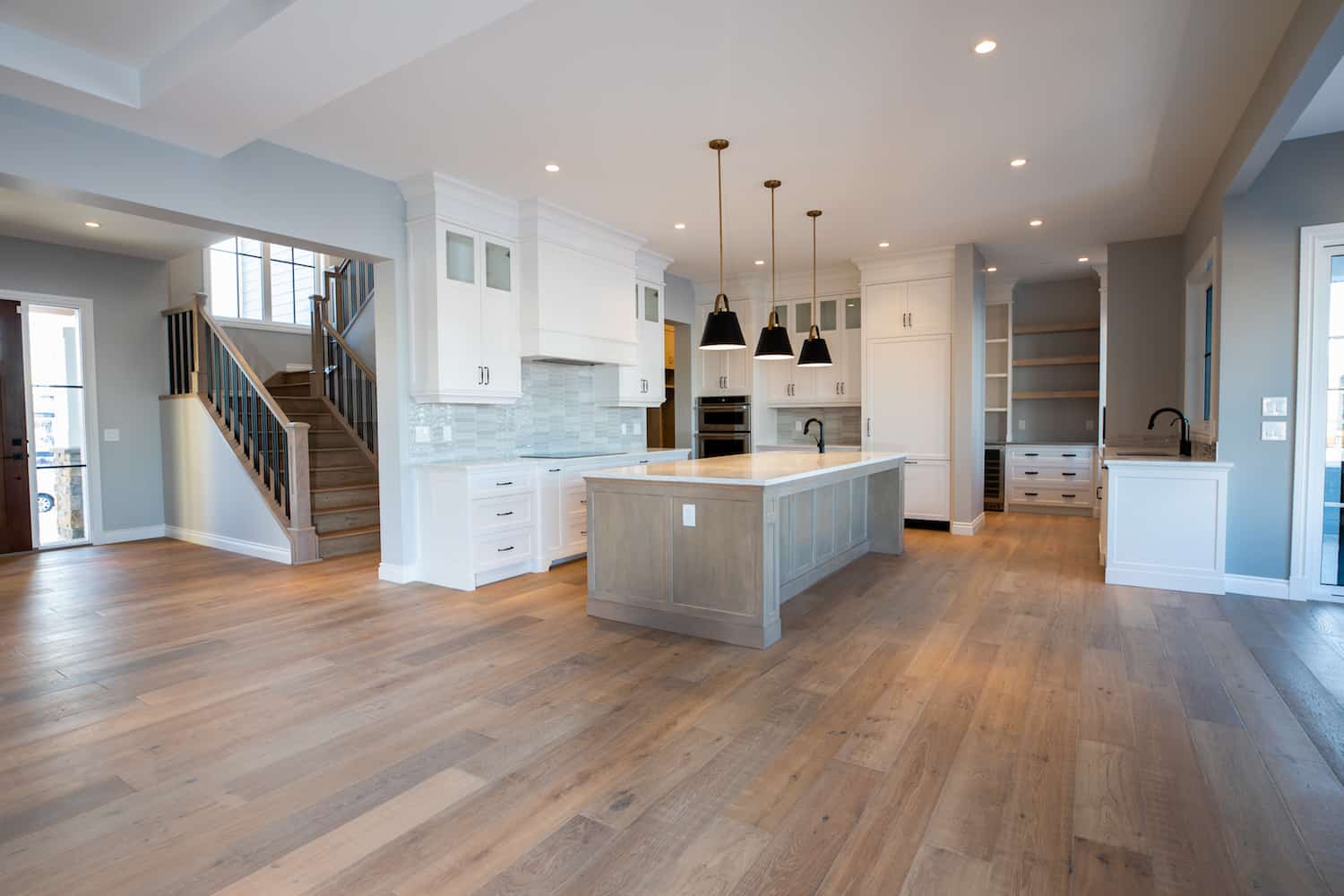 Kitchen and open dining area - custom residential design