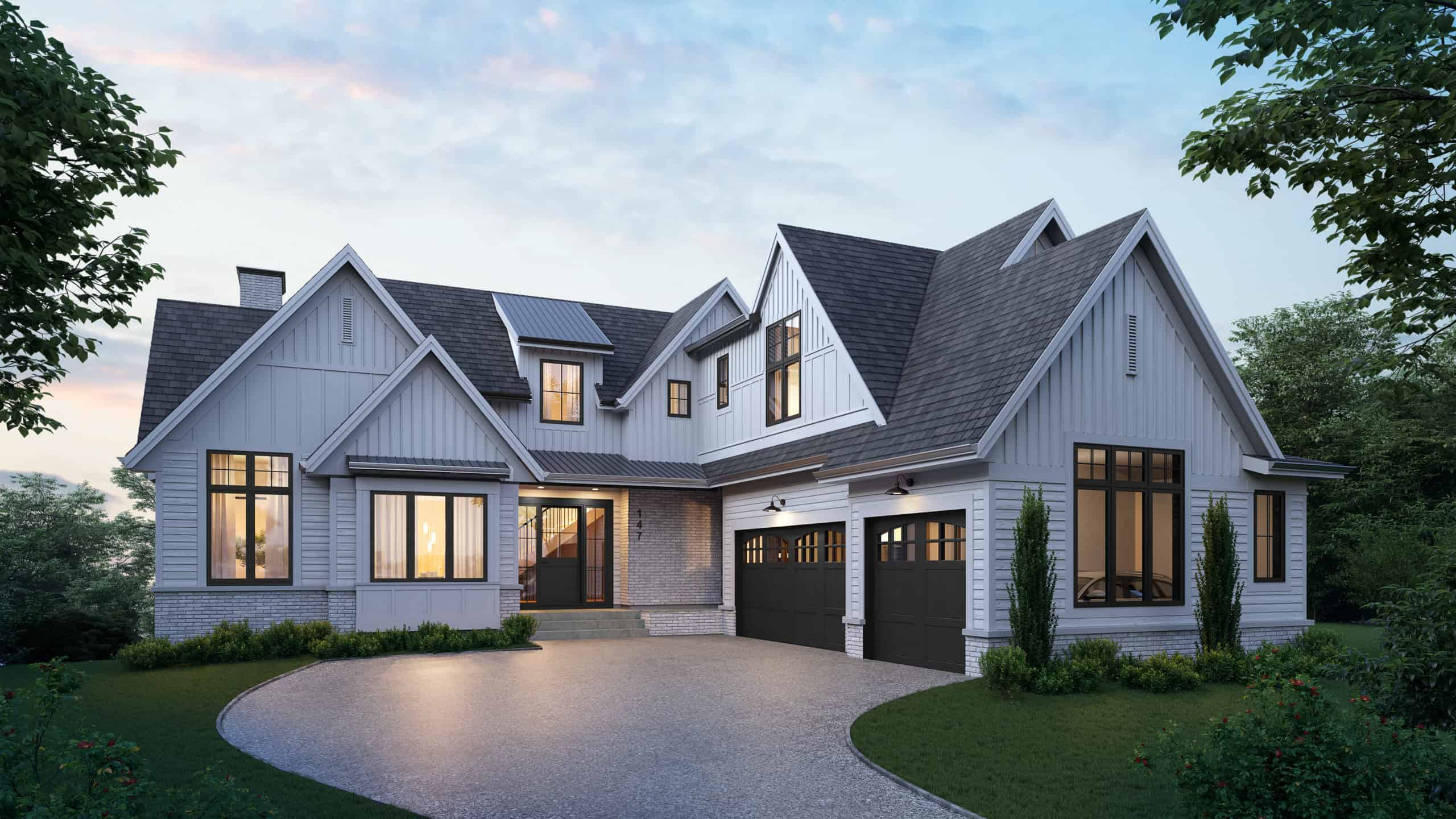 Watermark at Bearspaw Farmhouse residential architecture