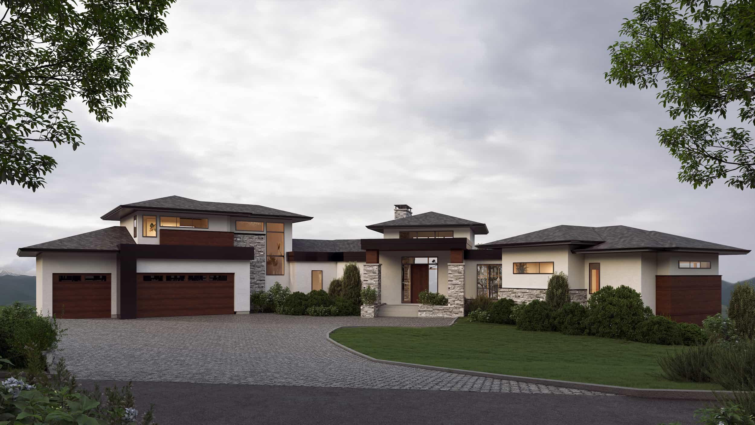 Springbank Hill Modern Prairie custom residential home