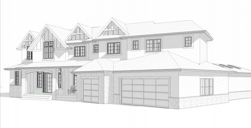 Watermark at Bearspaw Traditional front custom architecture