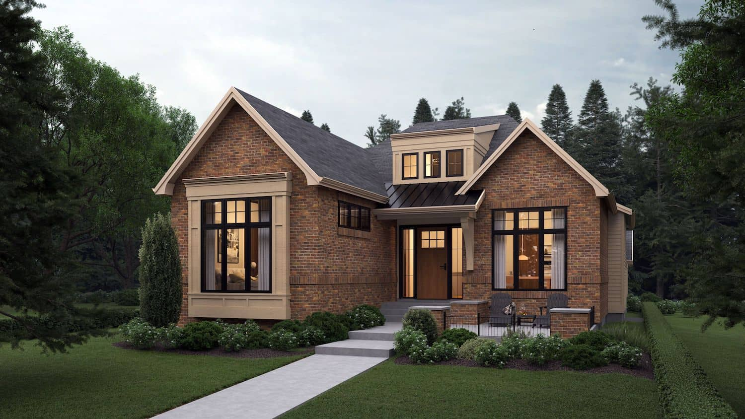 North Glenmore Park Traditional Bungalow custom luxury home