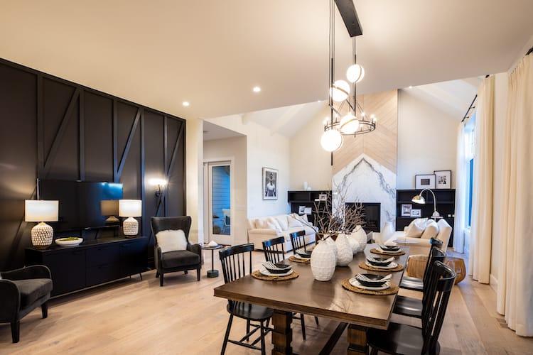 Watermark at Bearspaw - Modern Farmhouse dining room