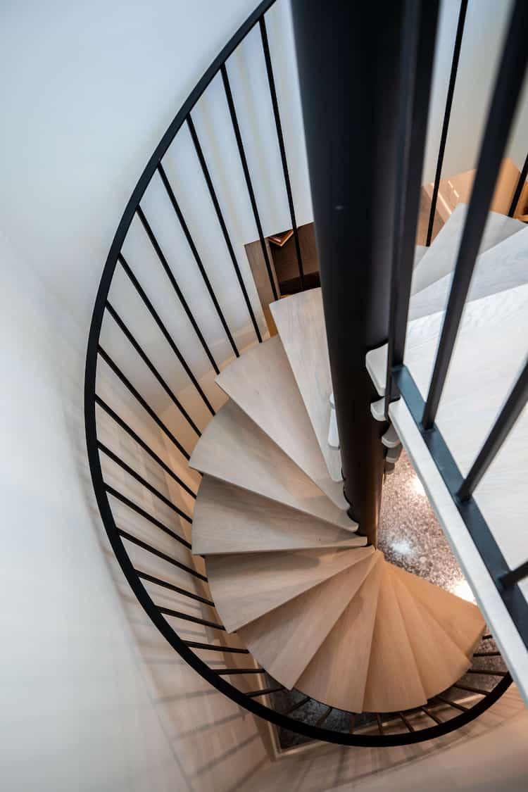 Watermark at Bearspaw - Modern Farmhouse stairs