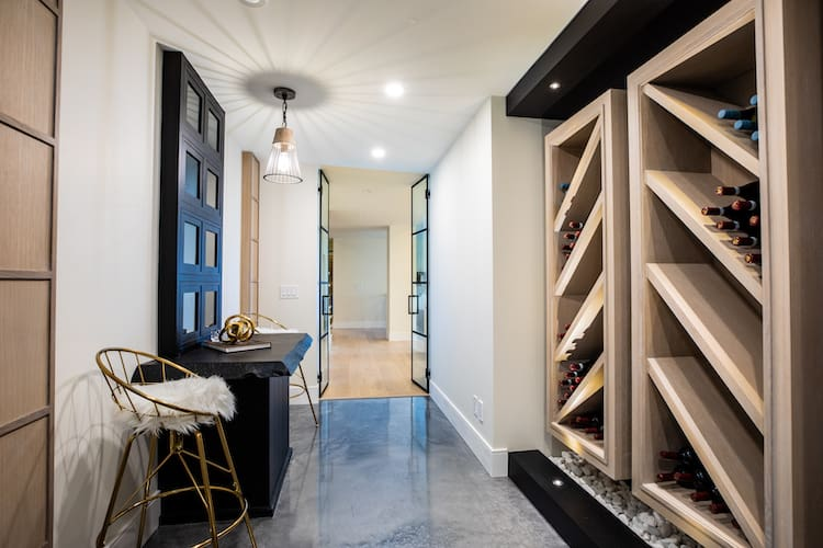 Watermark at Bearspaw - Modern Farmhouse wineroom