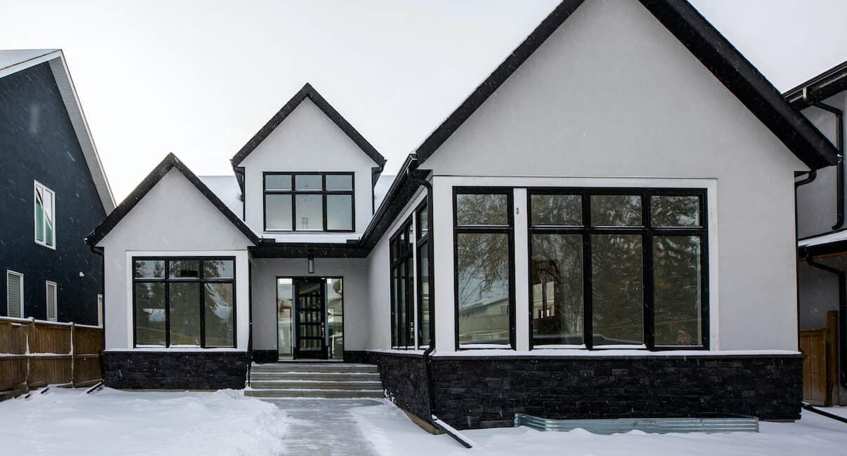 North Glenmore Park Modern Bungalow custom residential architecture