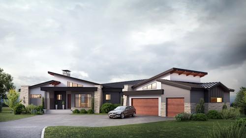 Springbank Mountain Modern Custom luxury home design featured