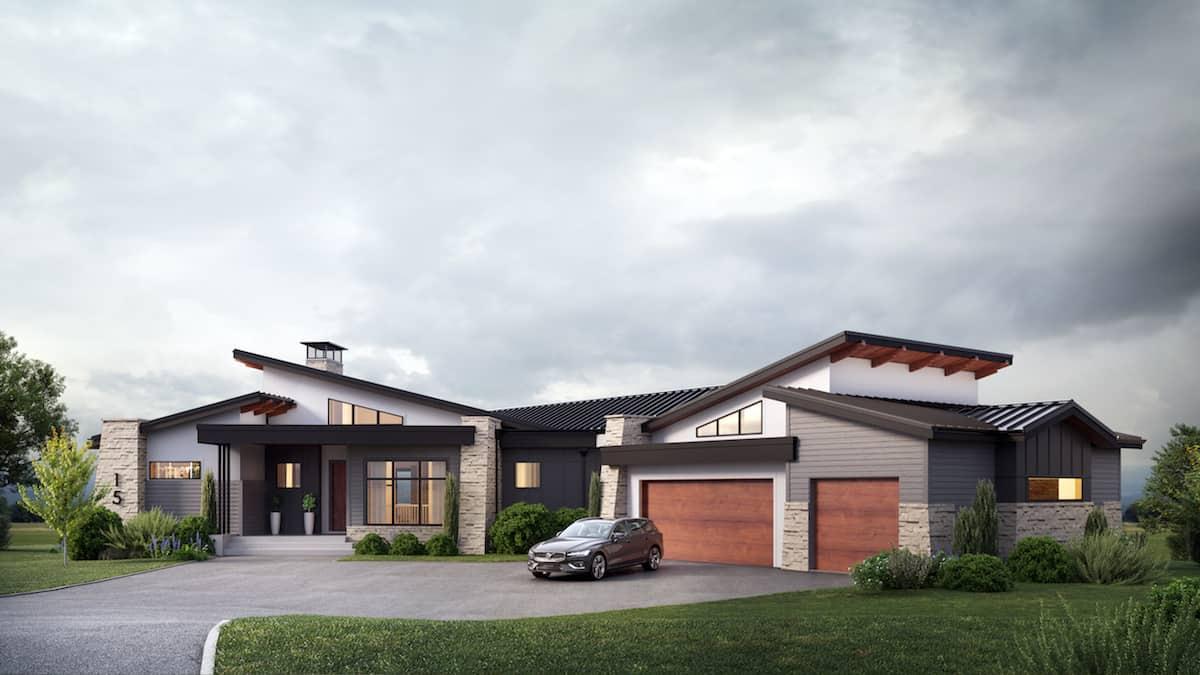 Corral View Mountain Modern Custom luxury home design