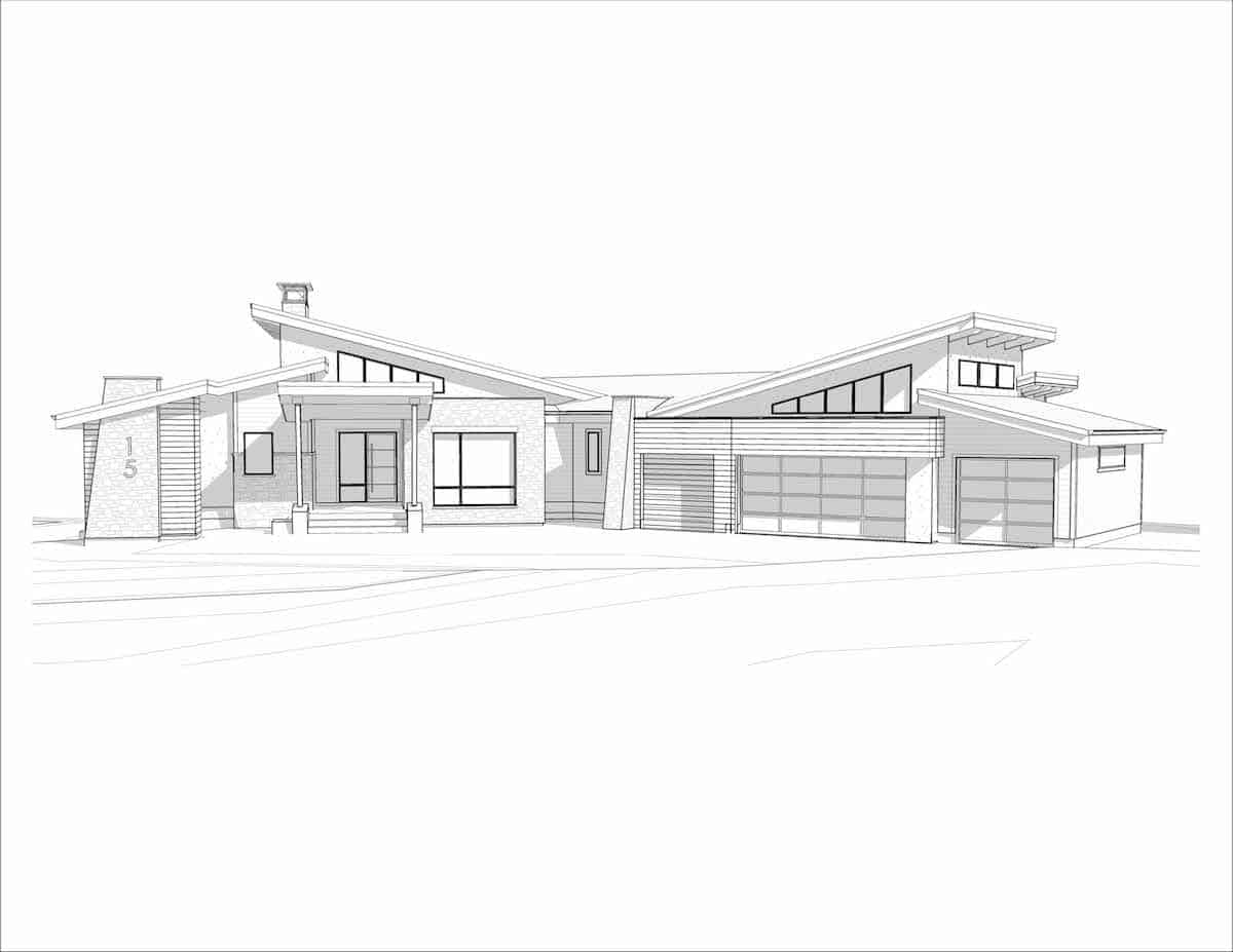 Corral View Mountain Modern perspective arcitechural design