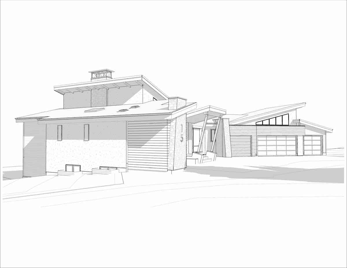 Corral View Mountain Modern perspective residential arcitechure