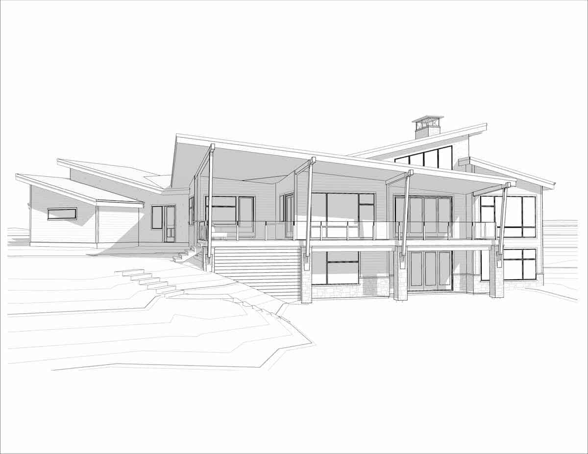 Corral View Mountain Modern perspective residential design