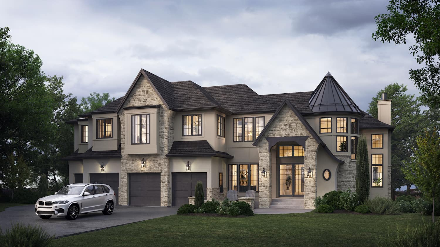 Aspen Heights French Manor Rendering luxury dream home