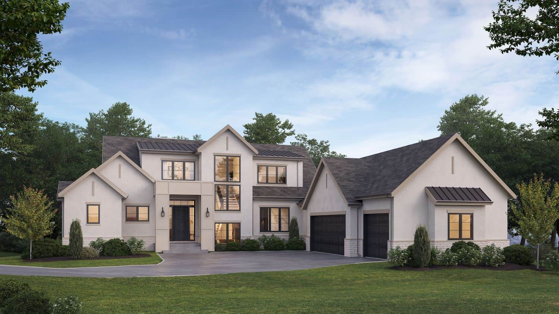 De Winton Transitional custom home
