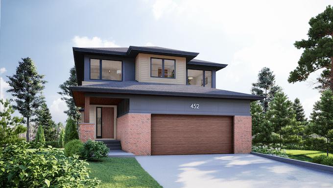 Discovery Ridge | Modern Prairie II custom residential architecture feature