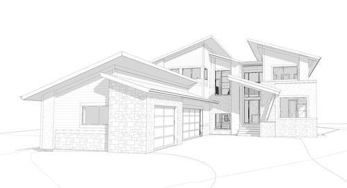 Watermark at Bearspaw - Modern Contemporary custom designed home