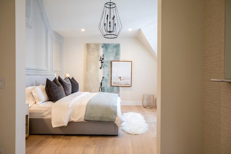 Watermark at Bearspaw Modern Farmhouse master bedroom1