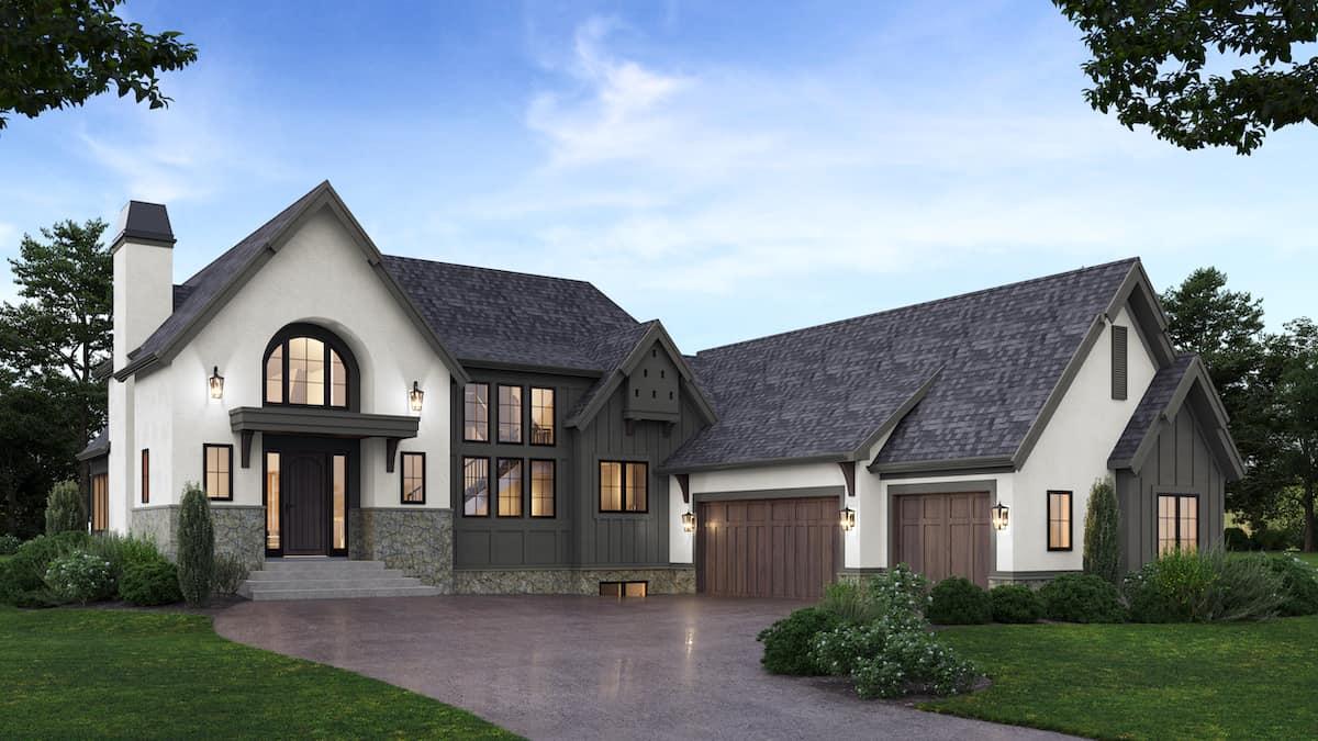 Calgary West | Belgian Farmhouse rendering custom home design
