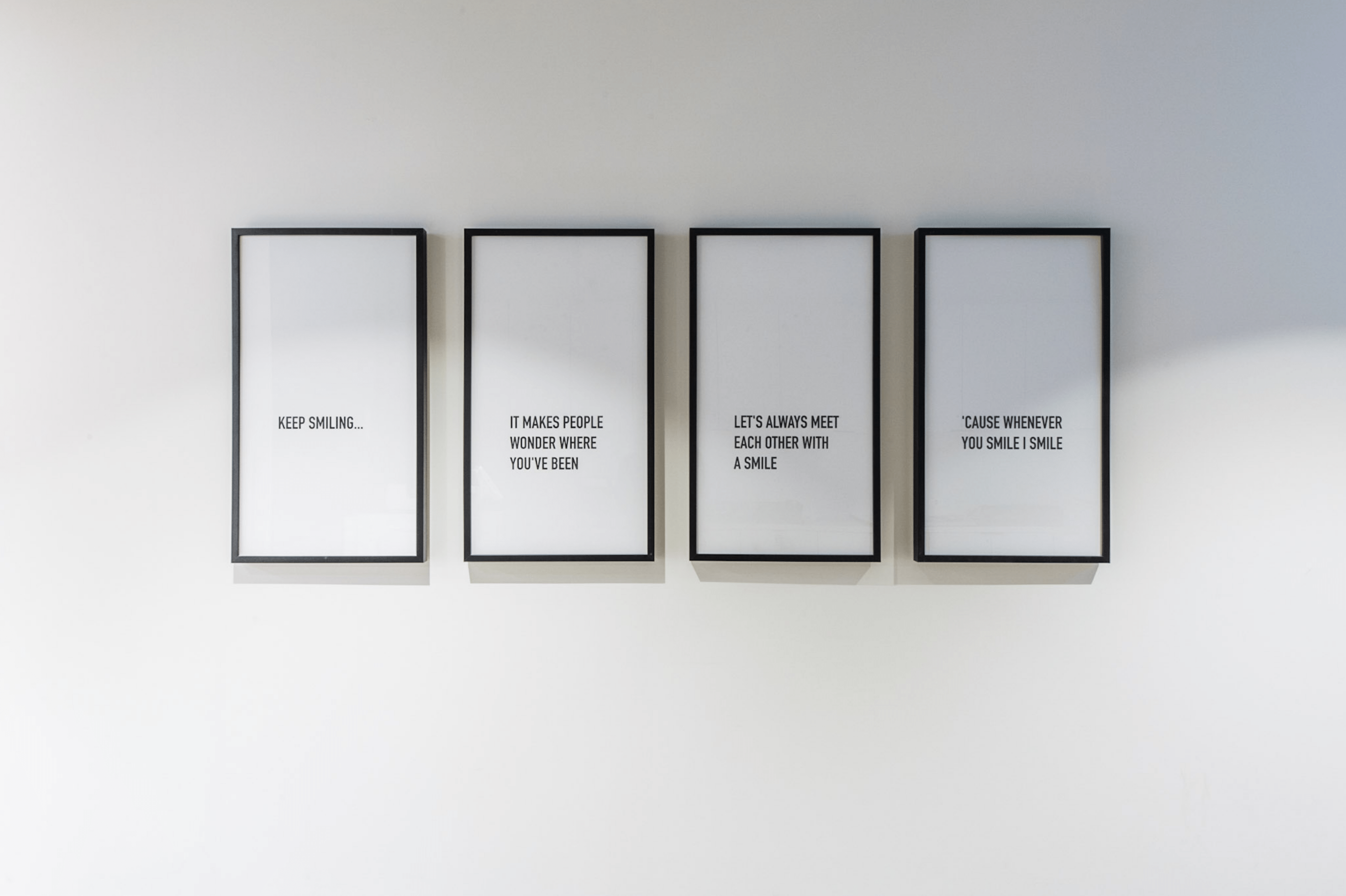 Forcade Inspirational Quote Wall frames