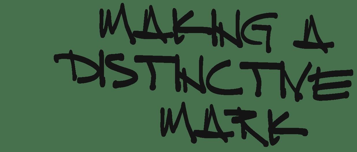 Making a distinctive mark