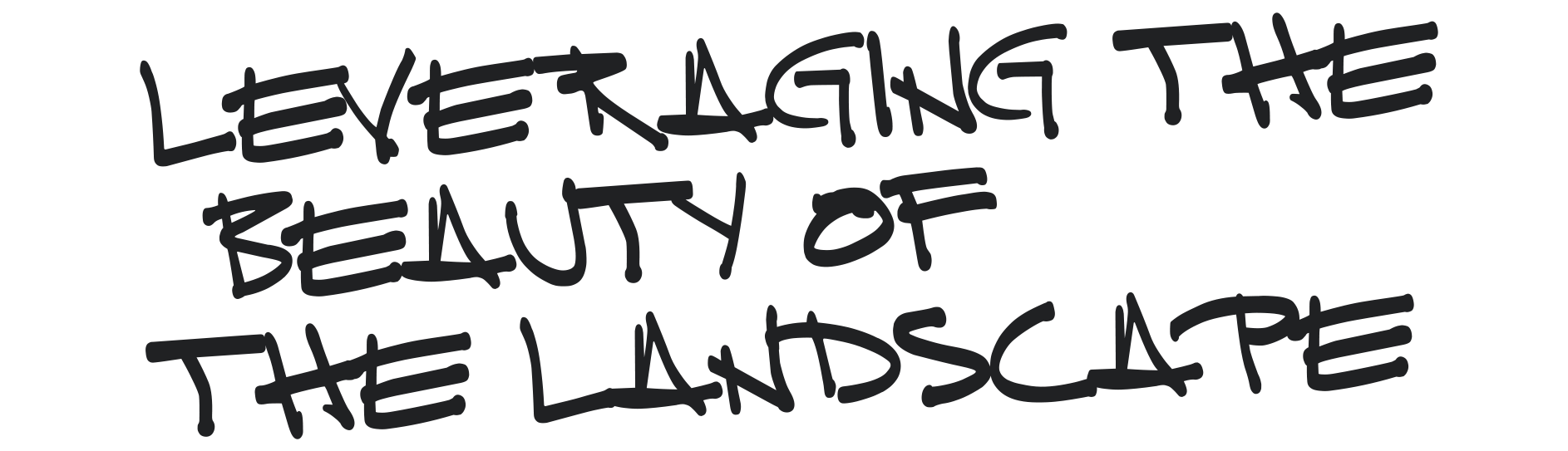 Leveraging the beauty of the landscape