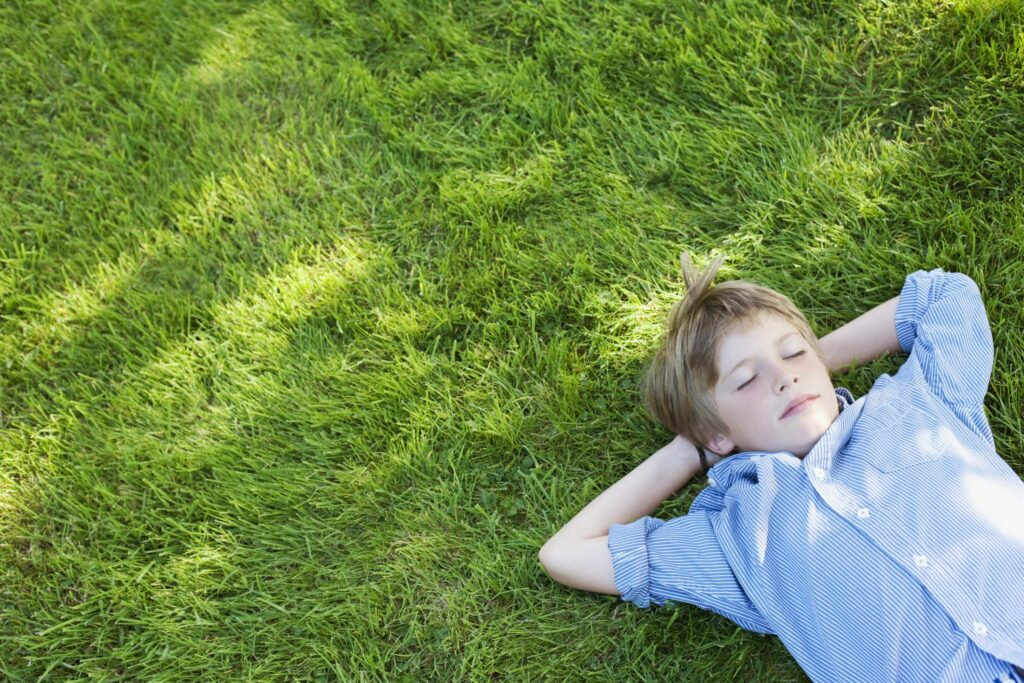 relaxed kid nap daydream sleep nature Sam Edwards 56a905be3df78cf772a2e6df 1024x683 - تأمل العام الجديد للصغار والناشئين