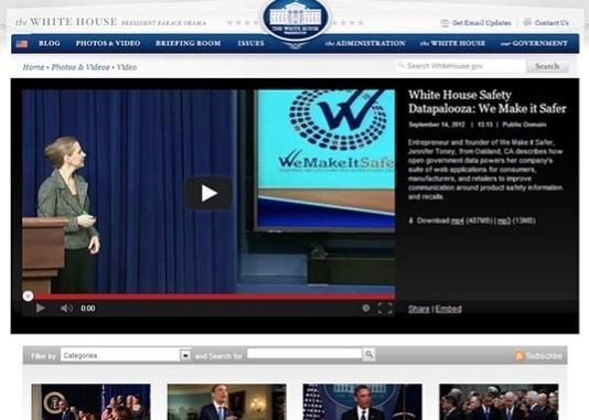 Talk: Open Gov Data, Given at The White House Under Obama