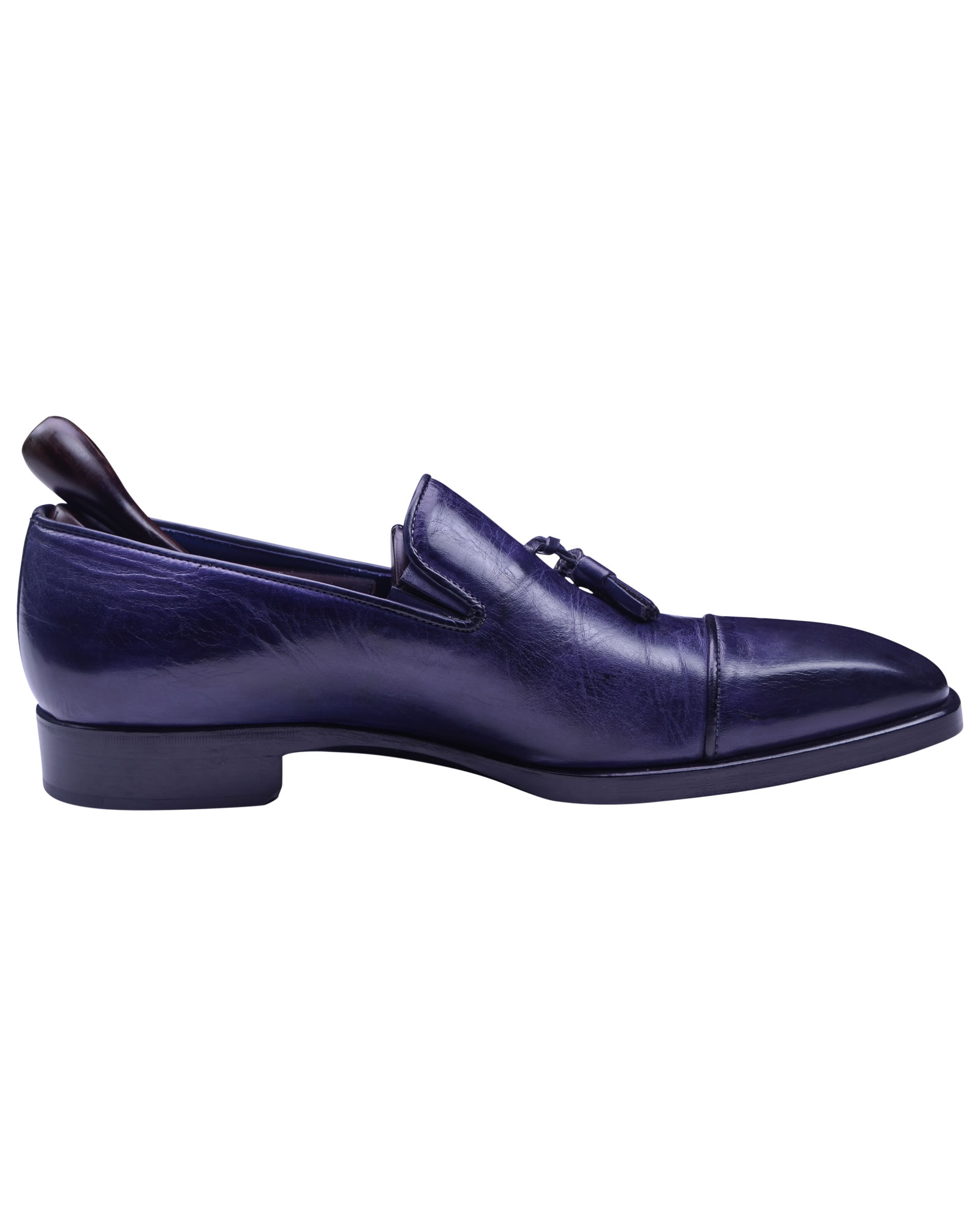 Angelo Galasso Signature Royal Blue Loafer shoes