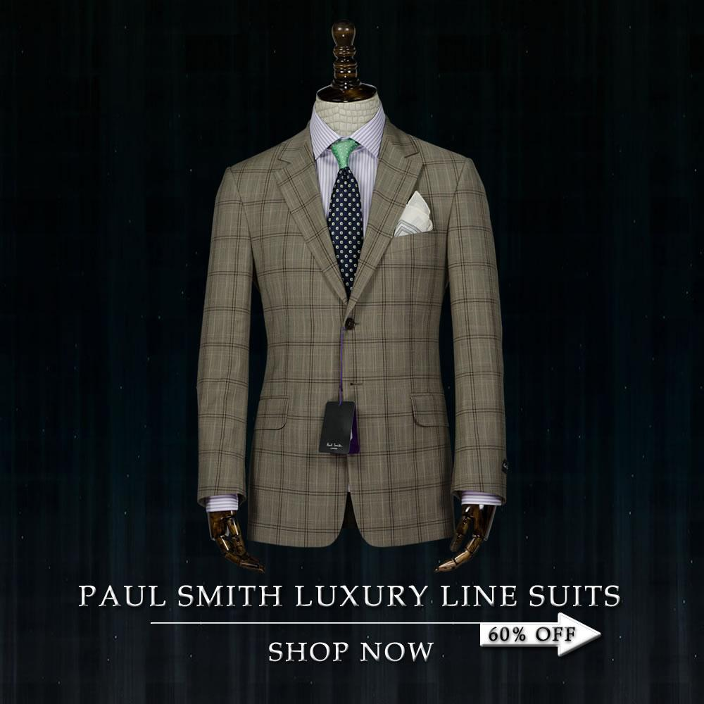 PAUL SMITH LUXURY LINE SUITS ON SALE IN FASHION HUB VANCOUVER BC