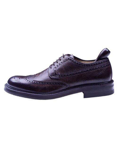 Corneliani Brown Leather Men's Wing Style Lace-up Shoes