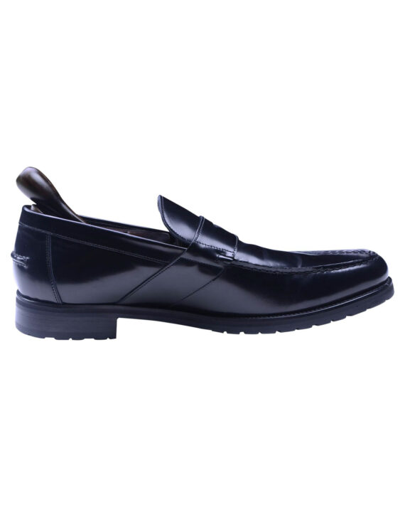 Calvin Klein Collection Black Leather Men's Loafer shoes