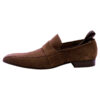 Bally Designer Brown Suede Leather Men's Loafer shoes -1