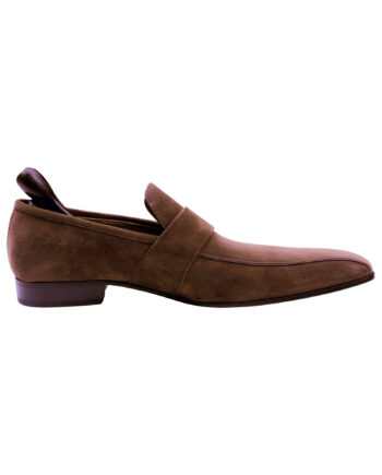 Bally Designer Brown Suede Leather Men's Loafer shoes