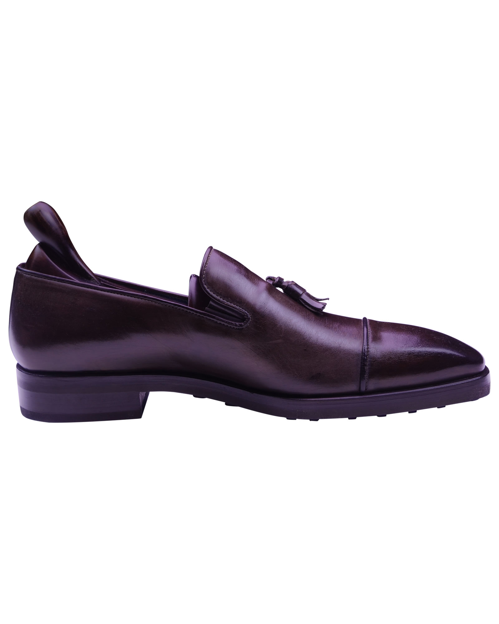 Angelo Galasso Signature Burnished Brown Loafer shoes