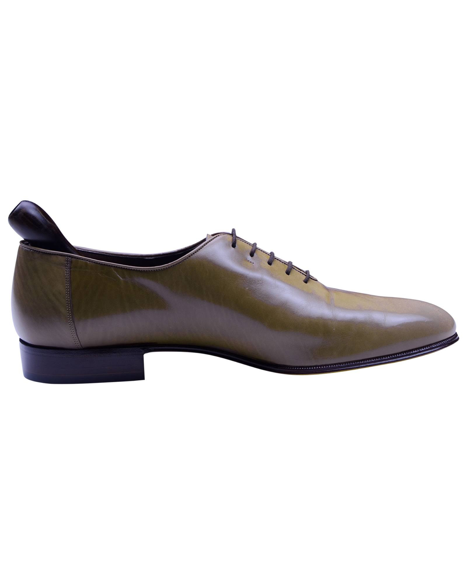 Bally Designer Grey Brown Leather Men's oxford shoes