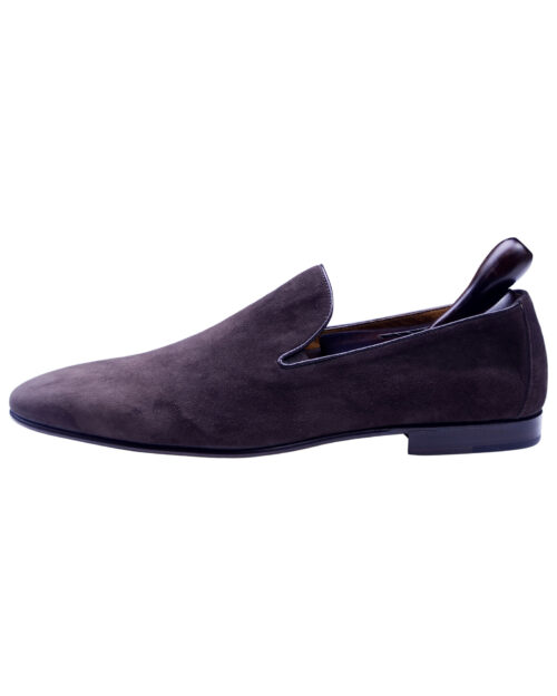Corneliani Brown Suede Leather Men's Loafer shoes