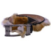 Angelo Galasso Fox Fur Palladium - plated Exclusive Leather Belt on Sale in Vancouver-1