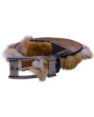 Angelo Galasso Fox Fur Palladium – plated Exclusive Leather Belt on Sale in Vancouver-1