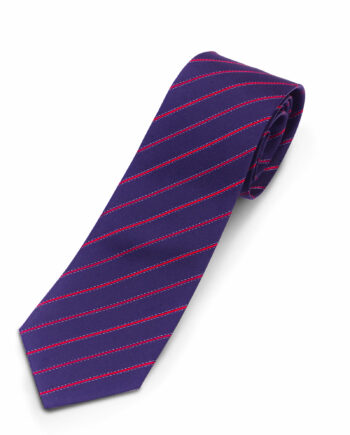 Luciano Barbera Navy Red Striped Silk Tie
