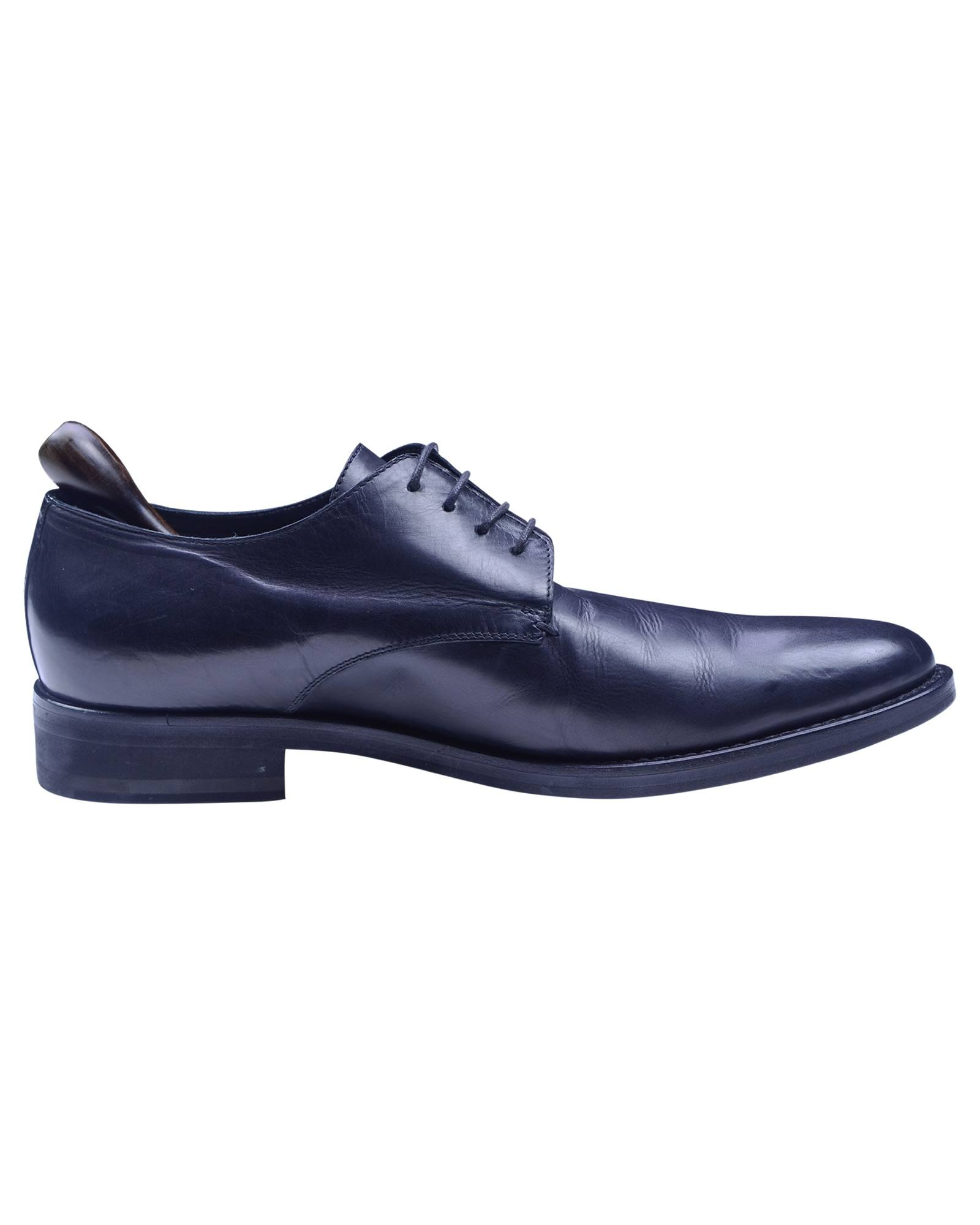 Costume National Black Color Calf Leather Handmade Lace Up Shoe