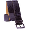 a.testoni Signature Crocodile Burgundy Brown Belt