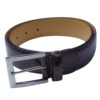 a.testoni Signature Crocodile Burgundy Brown Belt-1
