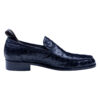 Custom Made Italian Black Color Genuine Ostrich Leather Shoes