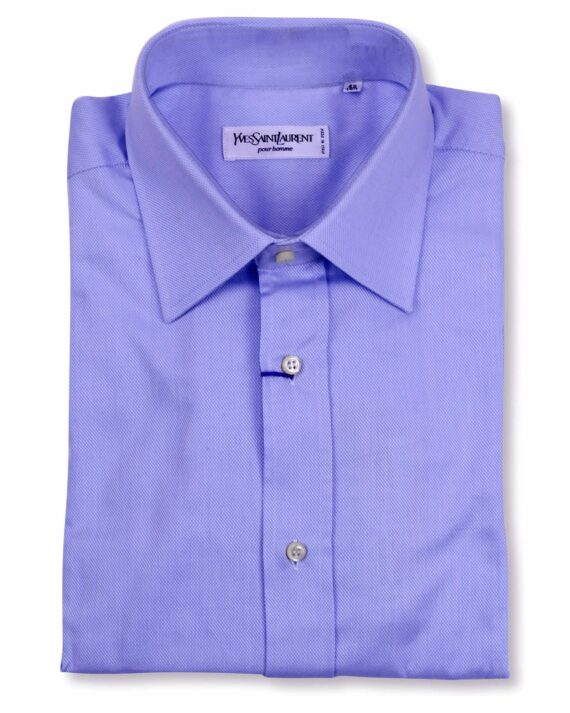 Yves Saint Laurent Designer Blue Dress Shirt