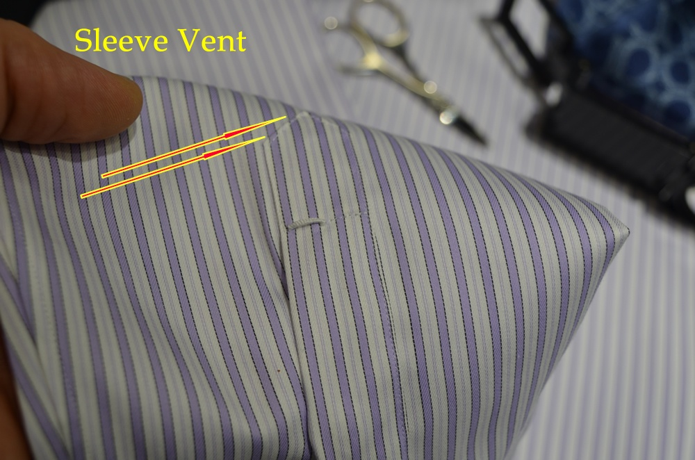 Milanesi shirt sleeves vent pattern match