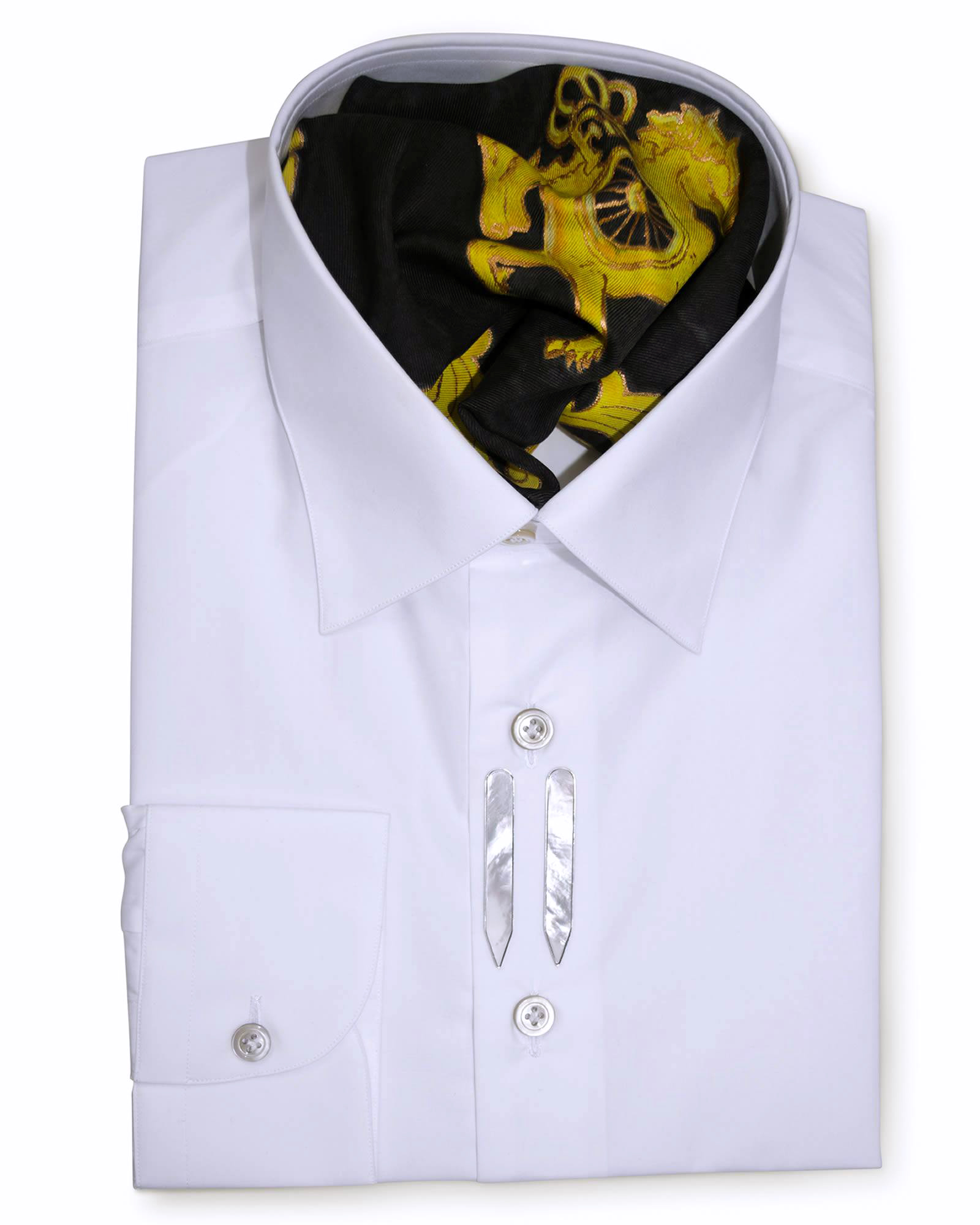 Classic Style Regular Fit White Dress Shirts