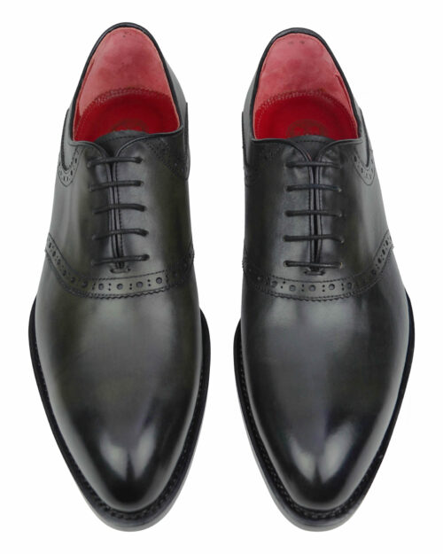 Burnished grey -olive green one piece leather dress shoes